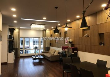 Saigon Pearl villa for sale Nguyen Huu Canh 1 basement 4 floors 7x21m