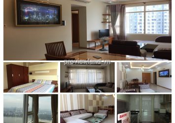 Apartment 2 bedroom Ruby 2 for rent in Saigon Pearl with 3 bedrooms good interior