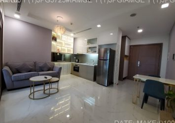 Apartment for rent in Vinhomes Central Park 1PN Landmark 81 tower fully furnished with park view
