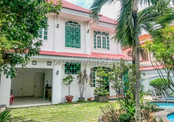 Villa in District 2 for rent on Quoc Huong street with 4 bedrooms
