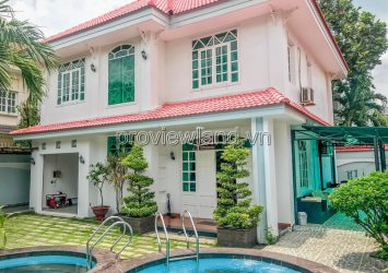 Villa for sale in District 2 with 4 bedrooms on Quoc Huong street