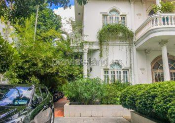 Thao Dien villas for sale in District 2, Tran Ngoc Dien frontage, swimming pool garden
