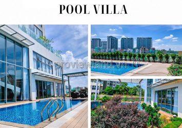 Diamond Island for rent Pool Villa design in duplex format with interior