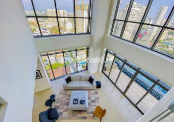 Penthouse for rent in The Nassim Thao Dien block A with private swimming pool