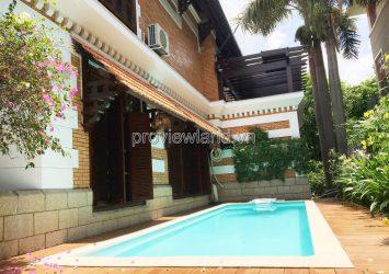 Fideco Thao Dien Villa for Rent 450m2, 1 ground floor, 1 attic floor, swimming pool + garden