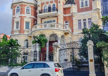 Thao Dien villa for rent, 700sqm of land, 1 basement + 4 floors with elevator