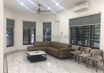 Villa for rent in Compound Thao Dien 1, 3 floors, 400m2, nice house