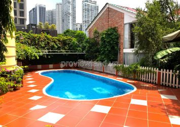 Villa for rent in Thao Dien District 2 300m2, 1 basement with 2 floors, fully furnished