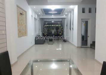 Villa for rent in Thao Dien, Compound Fideco, 1 ground floor, 2 floors with basic interior