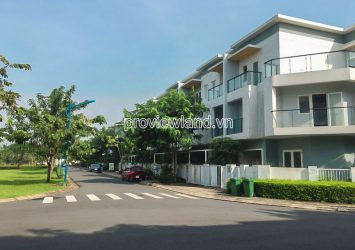Townhouses for sale corner 1 ground 2 floors at Mega Village Khang Dien area 180m2