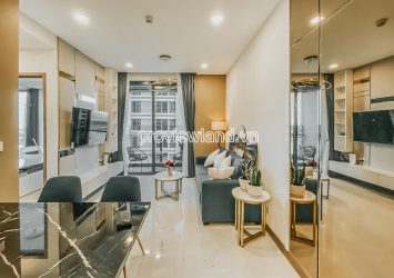 Sunwah Pearl apartment for rent in Binh Thanh 1 bedroom middle floor block White House