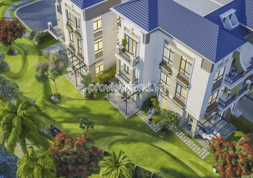 Adjacent townhouse for sale Verosa Khang Dien District 9 Garden area 1 ground floor 3 floors