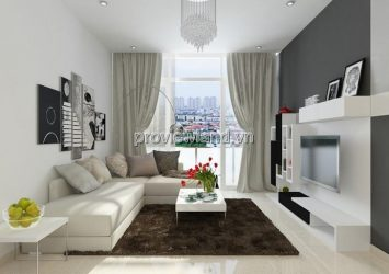 The Vista apartment for sale with an area of 101m2, full furnished, 2 bedrooms with glass balcony in the living room