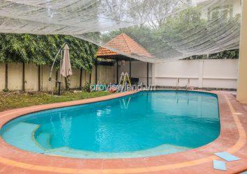 Villa for rent in Thao Dien, Nguyen Van Huong, 600m2, 1 basement 2 floors, swimming pool garden