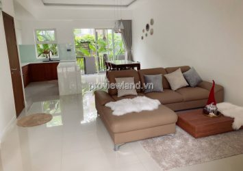 Palm residence villa for rent, area 6x17m, 3 floors, 3 bedrooms, fully furnished