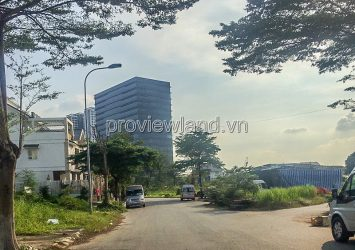 Sadeco land for sale in District 7, Nguyen Thi Thap, 16.7x20m, beautiful location