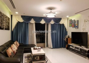 Vinhomes Central Park apartment for rent on 23rd floor fully furnished modern