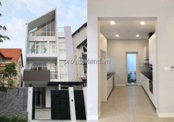 House for rent in Thao Dien street 3 floors 5 bedrooms basic furniture