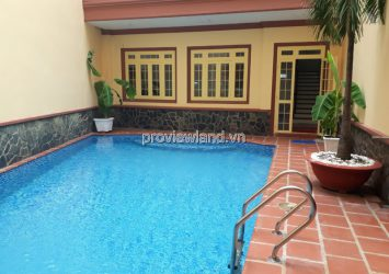 Swimming pool villa in District 1, Nguyen Thi Minh Khai frontage, 3 floors + terrace, 260m2