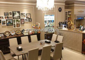 Saigon Pearl villa for sale, GOOD PRICE, 1 cellar + 3 floors + attic, 7x21m, high-class furniture