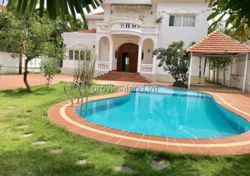 Villas for sale in District 2, Street 55, Thao Dien, 1053m2 of land, 2 floors, swimming pool + garden