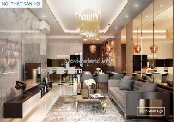 Penthouse Duplex One Verandah apartment for sale has an area of 217m2, including 2 floors, raw house