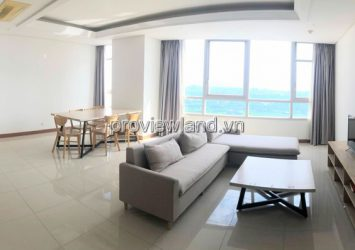 Xi Riverview apartment for rent high floor with an area of 185m2 full furnished