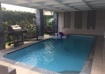 Villa for rent in Thao Dien with garden and swimming pool, area of 400m2, convenient for business