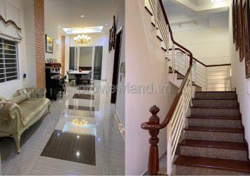 Thao Dien villa for sale located on Nguyen Van Huong street 4 bedrooms 1 ground floor 1 floor with furniture