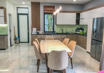 Villa for rent in Lucasta Khang Dien with 4 bedrooms, 1 ground floor, 2 floors full furnished