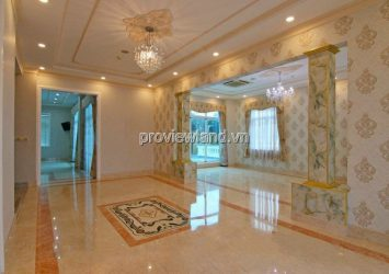 Thao Dien villa for rent with 400m2 land area with 3 floors 4 bedrooms and private swimming pool