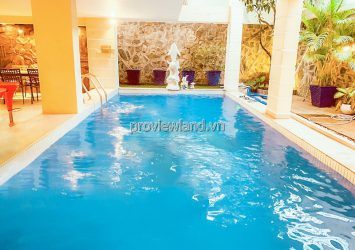 Villa for rent in Compound Thao Dien includes 4 floors area 16x20m