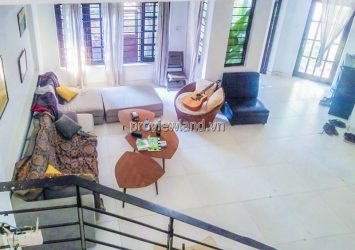 Townhouse for rent in Thao Dien Bao Chi Village 3 floors with area 110m2