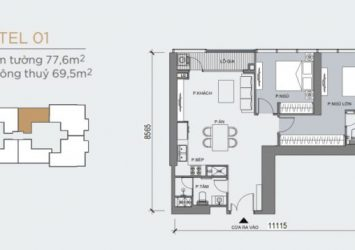 Grand Marian Saigon 2BR apartment for sale 77.6m2 area, attractive payment schedule