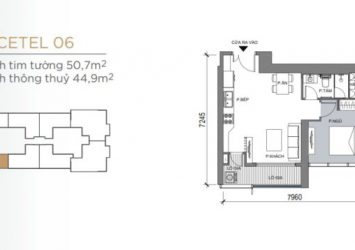 1BR apartment with river view at Grand Marina Saigon, area 50m2, booking 250 million to choose a nice apartment