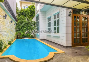 Thao Dien pool villa for sale with 3 floor architecture land area 20x20m