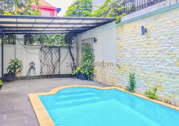 Thao Dien pool villa for rent with 3 floor architecture land area 20x20m
