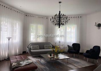 Thao Dien villa for rent has an area 500m2 with 1 ground floor 1 floor 4 bedrooms & swimming pool