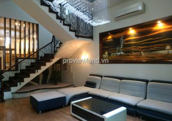 House for sale on Nguyen Van Huong Street 1 ground 3 floors 6 bedrooms with high class furniture