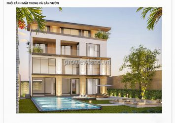 Villa for sale at Nguyen U Di Thao Dien has a pool 1 basement 3 floors with 668m2