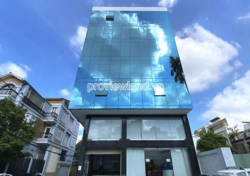 For rent Office Building front of Nguyen Huy Tuong Binh Thanh has area 12x25m