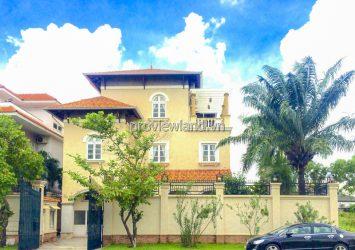 Pool Villas for rent Nguyen Van Huong riverside in Compound area at Thao Dien