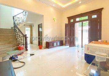 Villa for rent in Nguyen Van Huong alley 3 floors 4 bedrooms large for rent