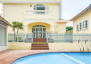 Thao Dien Villa for rent in Phu Nhuan Compound with garden and pool area 927m2
