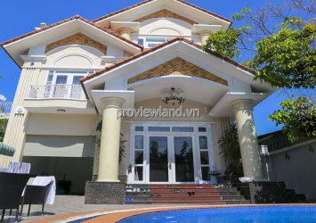 Townhouse for rent in front of Nguyen Duy Hieu Thao Dien with 2 floors attic area 450m2