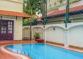 Thao Dien pool villa for rent including 2 floors 4 bedrooms area 600m2