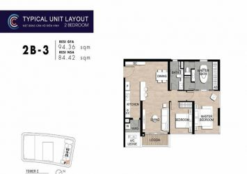 Apartment for sale at The Metropole Crest Residence 2 bedrooms