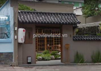 House for sale in front of Ba Huyen Thanh Quan District 3 land area 594m2 with 1 ground floor