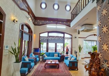 Villa for rent in front of Quoc Huong Thao Dien 4 floors with area 13x40m