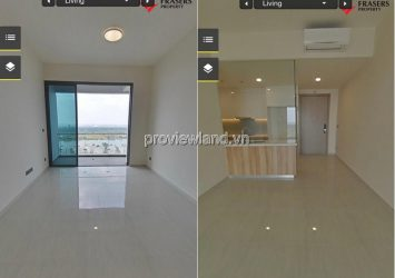 Apartment 3 bedrooms with wall furniture for sale in Q2 Thao Dien